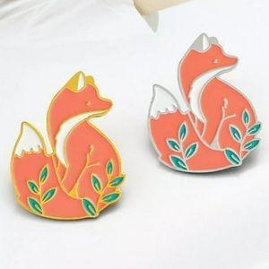 🎃 {10/$25} fox in the woods enamel pin